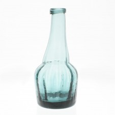 homart basal glass vintage blue bottle, small