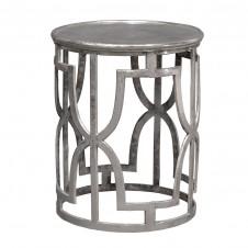palecek kim silver side table