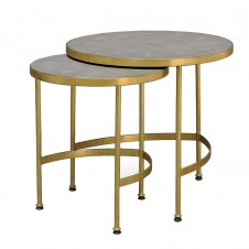 palecek wells faux shagreen nesting side tables