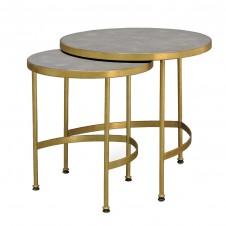 palecek wells faux shagreen nesting side tables