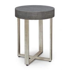 porter faux shagreen side table