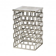 palecek emmet side table, silver