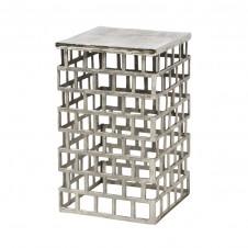 palecek emmet side table, silver