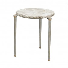 palecek fossilized clam tri side table
