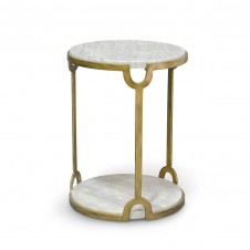 athena marble side table