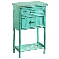 antique turquoise side cabinet w/ drawers