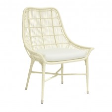 palecek lucca outdoor arm chair, cream