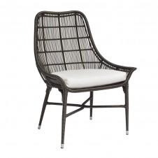 palecek lucca outdoor arm chair, espresso