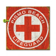 lifeguard customizable wood sign