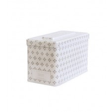 washed cotton 3 wick printed tin candle
