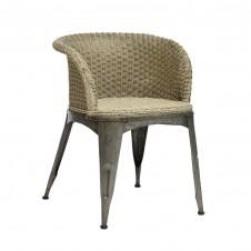 palecek navy dining arm chair