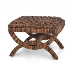 palecek havana woven bridge stool