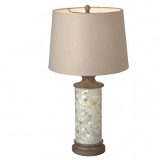 capiz shell vintage wash table lamp