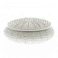homart large white urchin ceramic box