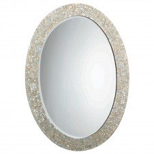 large oval mother of pearl mirror