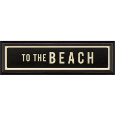 """to the beach"" street sign"
