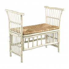 antique white cabana bench