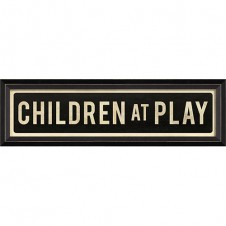 """children at play"" street sign"