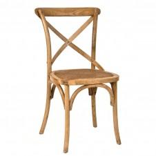 oak cross back chair