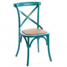 birch cross back chair blue