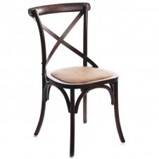 birch cross back chair brown