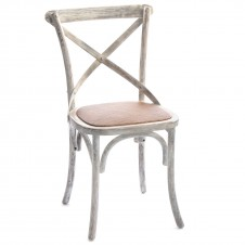 birch cross back chair white