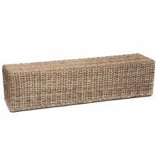 rectanguler rattan bench natural