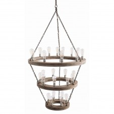 arteriors geoffrey three tier chandelier