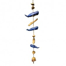 ceramic whale bell drop wind chime