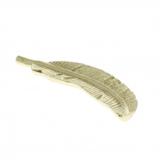 homart cast metal feather, brass