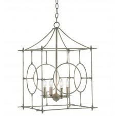 currey & company lynworth lantern, silver