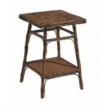 antique tortoise square side table