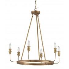currey & company trilogy chandelier, brass