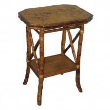 elongated octagon side table