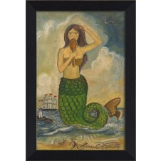 """mermaid with mirror"" mermaid art"