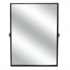 homart black waxed pivot iron mirror, large