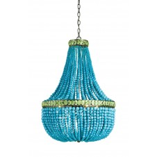 currey & company hedy chandelier in turquoise