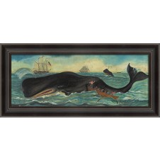 """whalers whales and ships"" whale art"