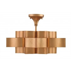 currey & company grand lotus semi-flush pendant