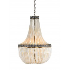 currey & company hedy chandelier in cream