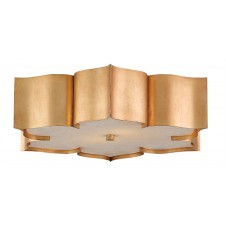 currey & company grand lotus flush mount