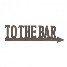 to the bar sign