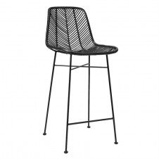 black rattan bar stool