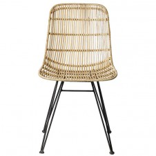 natural braided rattan chair