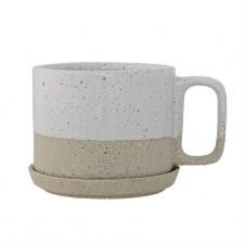 ceramic barbara mug w/ saucer