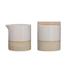 ceramic barbara sugar & creamer