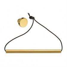 gold knob & bar paper towel holder