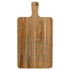 grey print cutting board