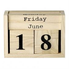 wood perpetual calendar blocks