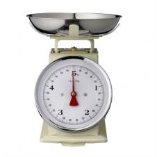 cream metal kitchen scale